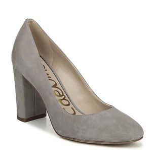 sam edelman stillson grey suede heel size 6.5